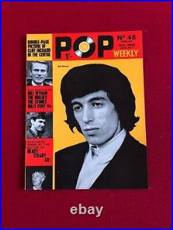 1964, Rolling Stones (Mick Jagger), POP WEEKLY Magazines (5) (No Labels) Scarce