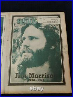 1971 August 5 ROLLING STONE MAGAZINE CLEAN / NRMT #88 Jim Morrison (A100)