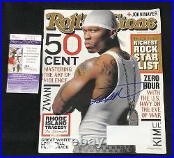 50 Cent Signed Rolling Stone Magazine JSA COA Eminem Shady G-Unit
