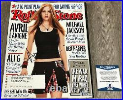 AVRIL LAVIGNE SIGNED AUTOGRAPH ROLLING STONE MAGAZINE withPROOF & BECKETT BAS COA