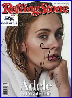 Adele Autograph Signed Rolling Stone Magazine Coa