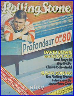 Aust. Rolling Stone magazine David Bowie cover promo poster 1979