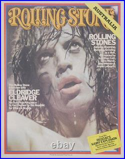 Aust. Rolling Stone magazine Mick Jagger cover promo poster 1975