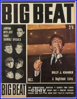 BILLY J. KRAMER The Beatles ELVIS Rolling Stones MOJOS Big Beat magazine # 2 1963