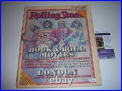 Barry Gibb The Bee Gees Jsa/coa Signed Rolling Stone Magazine