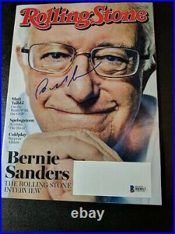 Bernie Sanders Beckett Signed Magazine Autographed Rolling Stone President 2020