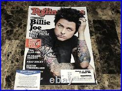 Billie Joe Armstrong Rare Hand Signed Rolling Stone Magazine Green Day + BAS COA