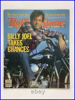 Billy Joel Signed Autograph Rolling Stone Magazine The Stranger Piano Man Acoa
