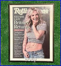 Britney Spears Signed Rolling Stone Magazine December 11 2008 photo cd 1999 2000