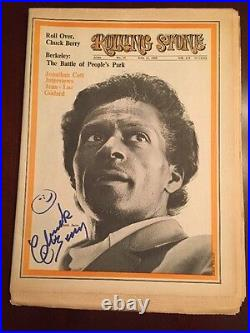 Chuck Berry Signed Rolling Stone Magazine JSA COA CERTIFICATE of AUTHENTICITY