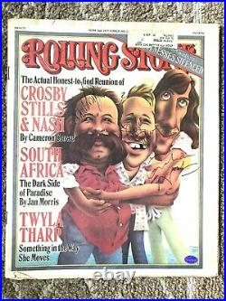 Crosby Stills Nash Rolling Stone Certified Autograph
