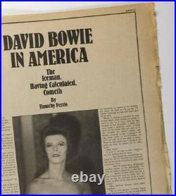 DAVID BOWIE MICK ROCK in AMERICA Danny Lyon RARE Rolling Stone UK magazine 1972