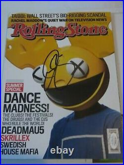 DEADMAU5 SIGNED JULY 2012 ROLLING STONE MAGAZINE WithPROOF JSA AUTHENTICATED