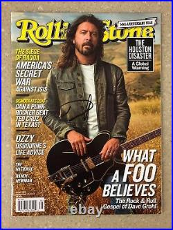 Dave Grohl Signed Rolling Stone Magazine! Foo Fighters! Nirvana