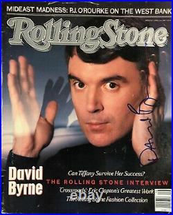 David Byrne Hand Signed Vintage Rolling Stone Magazine / Jsa Coa