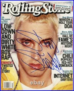 EMINEM signed DISPLAY 1/1 Slim Shady Rolling Stone Magazine ACA & JSA (LOA)