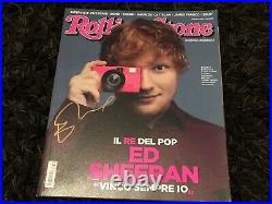 Ed Sheeran signed Rolling Stone Italy I don't Care Shape of You