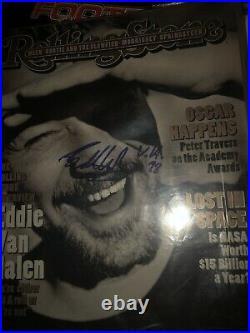 Eddie Van Halen Signed Autographed Rolling Stone Magazine Super Rare 1998