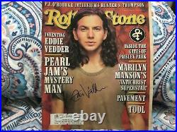 Eddie Vedder (pearl Jam) Signed 1996 Rolling Stone Magazine, Signed In Person