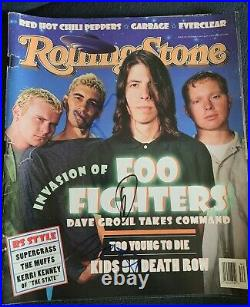 FOL FIGHTERS BAND SIGNED 1995 ROLLING STONE MAGAZINE RARE GROHL +2 WithCOA+PROOF