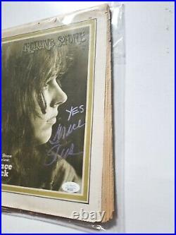 Grace Slick REAL SIGNED 1970 Rolling Stone Magazine JSA COA Jefferson Airplane
