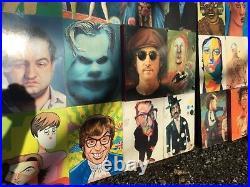 HUGE celebrity ROLLING STONE MAGAZINE LAUNCH ARTWORK Beatles Elton elvis, ONE OFF