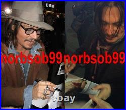 JOHNNY DEPP SIGNED ROLLING STONE MAGAZINE COVER withPROOF & BECKETT BAS COA