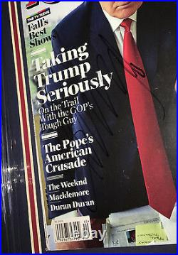 JSA 45th President DONALD TRUMP Signed Autographed FRAMED Rolling Stone Magazine
