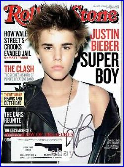 JUSTIN BIEBER signed ROLLING STONE magazine March 03, 2011