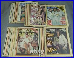 Jann Wenner / Near complete run of Rolling Stone magazine from 1977 24 issues