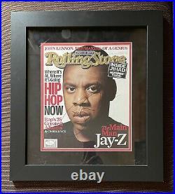 Jay Z Signed Rolling Stones Magazine Framed 19 x 17 Inches JSA COA