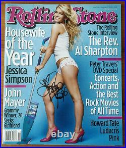 Jessica Simpson Signed Rolling Stone Magazine 11/2003 COA Signatures. Com