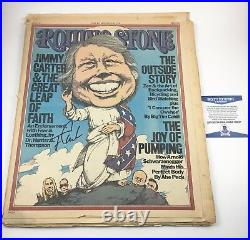 Jimmy Carter President Rolling Stone Magazine Signed Autographed Beckett COA