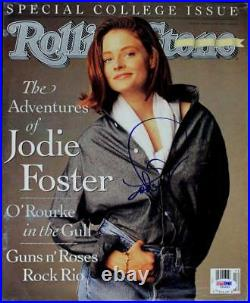 Jodie Foster Authentic Signed Rolling Stone Magazine Cover PSA/DNA #I85690