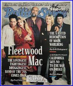 John McVie Signed Rolling Stone Magazine #772 Rare Fleetwood Mac LEGEND RAD