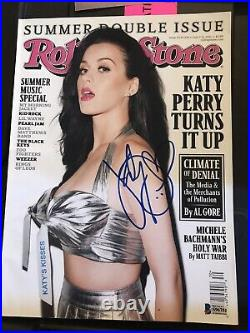 Katy Perry SIGNED Autographed Rollingstone Magazine SEXY beckett Authentication