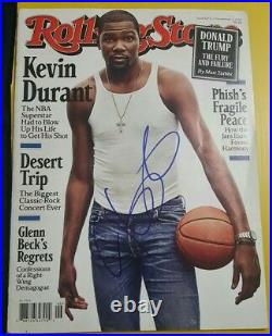 Kevin Durant Autographed 2016 Rolling stone Magazine Rare
