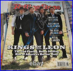 Kings Of Leon Kol Band Signed Rolling Stone Magazine April 2009 Rare Complete