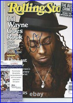LIL WAYNE Signed 2009 ROLLING STONE MAGAZINE WEEZY TUNECHI YMCMB AUTOGRAPH +JSA