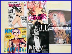Lady Gaga Rare Magazine Lot Vogue Japan Rolling Stones NME Bazar