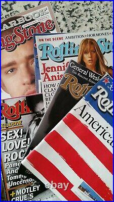 Large Lot of Rolling Stones Magazines 140+