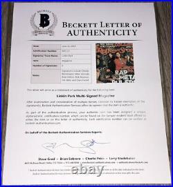 Linkin Park Signed Rolling Stone Magazine Chester Bennington +5 Beckett Bas Loa
