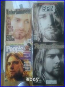 Lot Of 4 Kurt Cobain Death Final Magazines Spin People Rolling Stone EW Nirvana