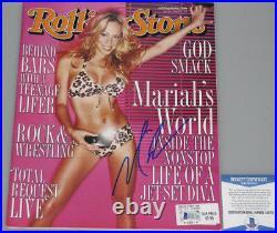 MARIAH CAREY Hand Signed Rolling Stone Magazine +PSA BECKETT COA BUY GENUINE