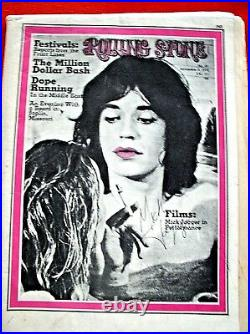 MICK JAGGER Signed ROLLING STONE MAGAZINE Issue No 65 September 3, 1970