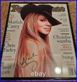 Mariah Carey Sexy Signed Rolling Stone Magazine Feb 1998 (coa Included)