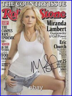 Miranda Lambert signed Rolling Stone magazine