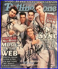 NSync Signed Autograph Rolling Stone Magazine Rare Signature Justin Timberlake