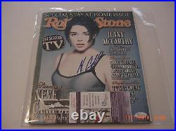 Neve Campbell Party Of Five Actress Jsa/coa Signed Rolling Stone Magazine