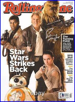 PETER MAYHEW Signed Star Wars ROLLING STONE Magazine BECKETT BAS #C12434